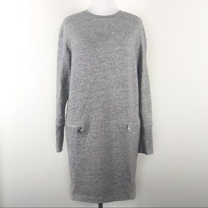 Uniqlo Fleece Dress Tunic French Terry Pockets L